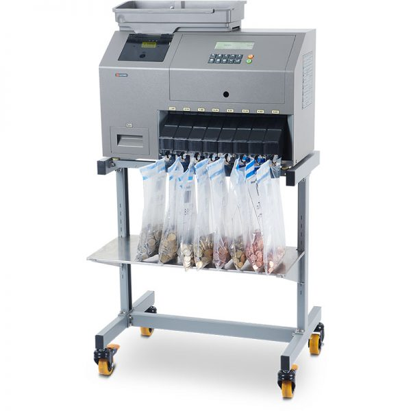 CMX30 cashMAX heavy duty coin sorter on stand