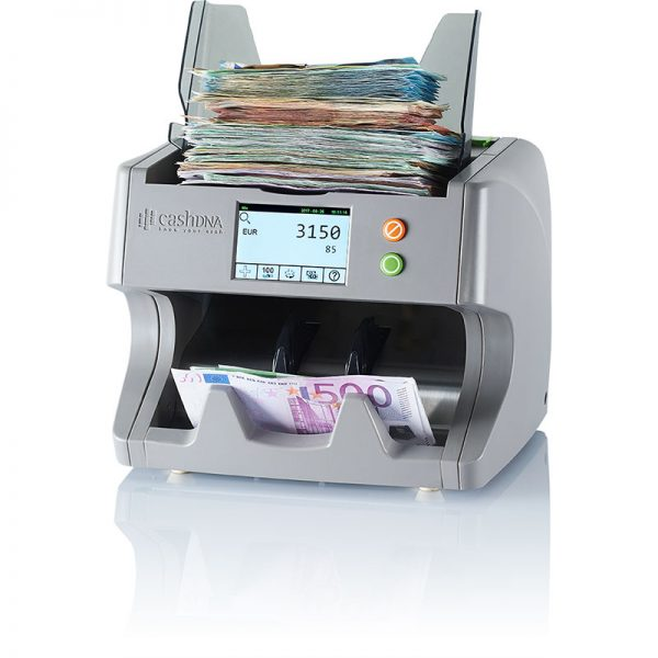 TN10 cashDNA multi currency banknote counter with Euro banknotes