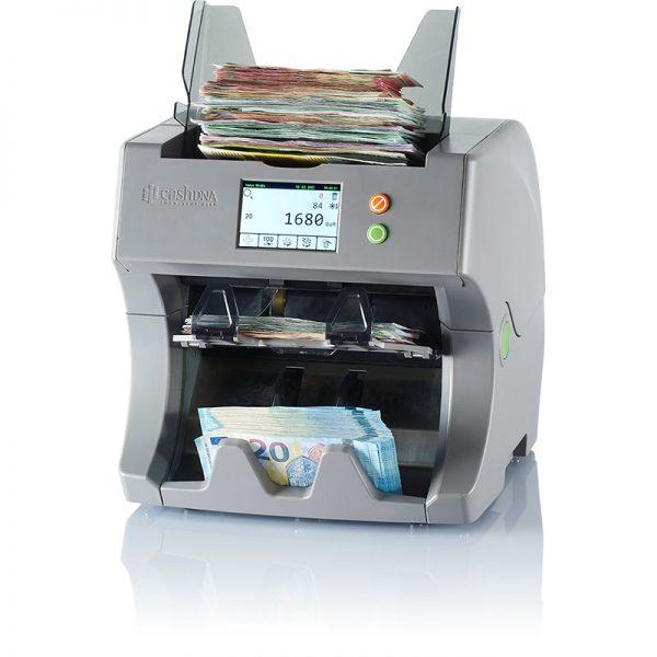 TN20 cashDNA Banknotenzähler mit Euro-Banknoten