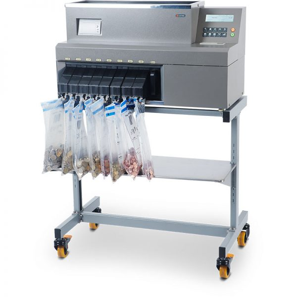CMX40 cashMAX coin sorter on stand